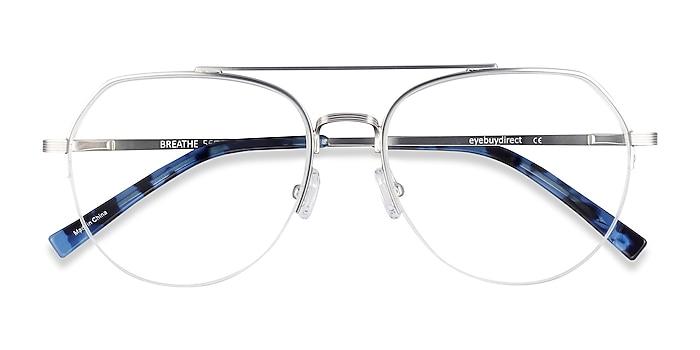 Silver Breathe -  Vintage Metal Eyeglasses