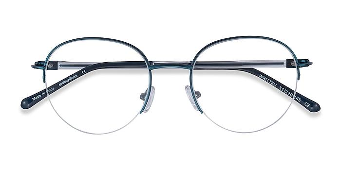 Navy Written -  Metal Eyeglasses