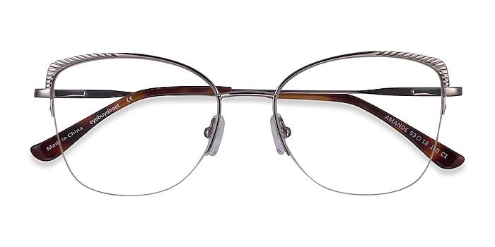 Silver Amande -  Metal Eyeglasses