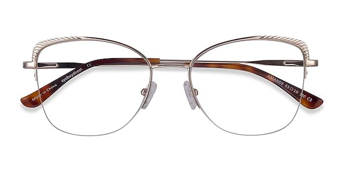 Gold Amande -  Metal Eyeglasses