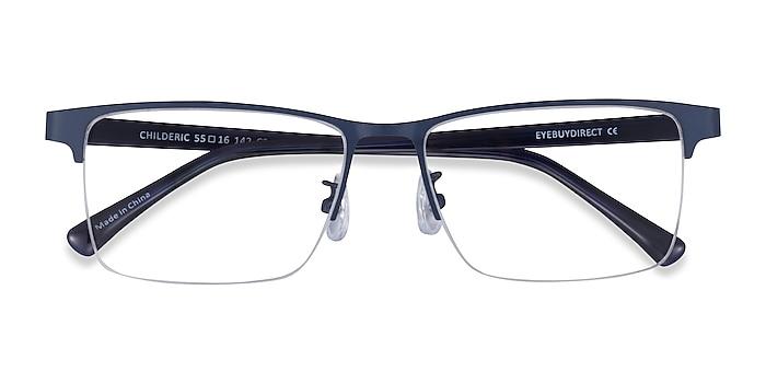 Navy Childeric -  Metal Eyeglasses