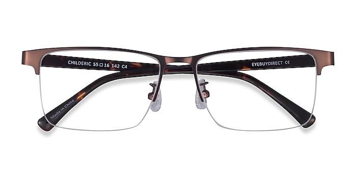 Brown Tortoise Childeric -  Metal Eyeglasses