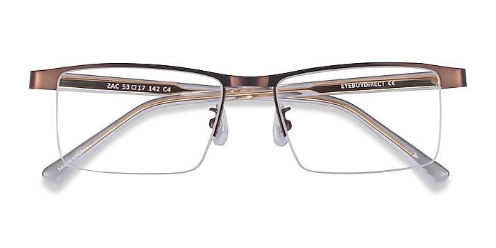 Coffee Gold Zac -  Metal Eyeglasses