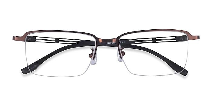 Coffee Black Nine -  Metal Eyeglasses