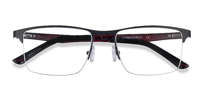 Matte Black Kinetic -  Metal Eyeglasses