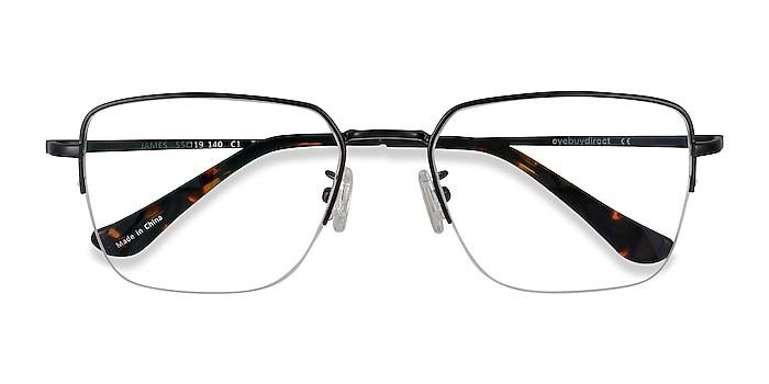 Black James -  Lightweight Titanium Eyeglasses