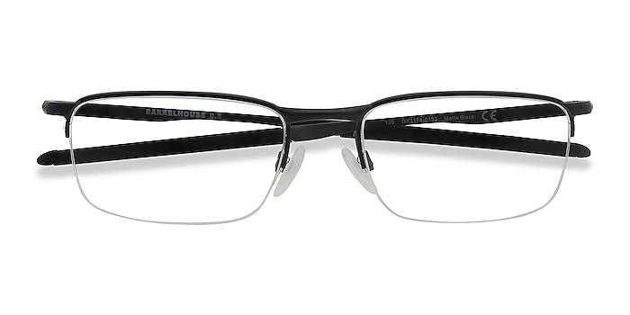Matte Black Oakley Barrelhouse 0.5 -  Metal Eyeglasses