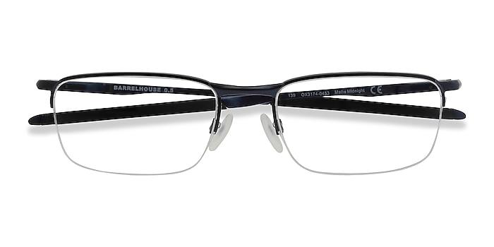 Matte Midnight Oakley Barrelhouse 0.5 -  Metal Eyeglasses