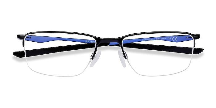 Satin Black & Blue Oakley Socket 5.5 -  Metal Eyeglasses