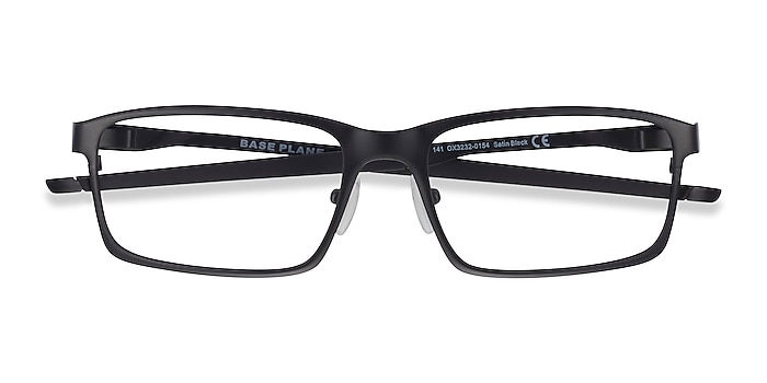 Satin Black Oakley Base Plane -  Metal Eyeglasses