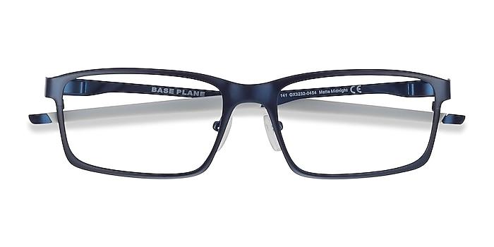 Matte Midnight Oakley Base Plane -  Metal Eyeglasses