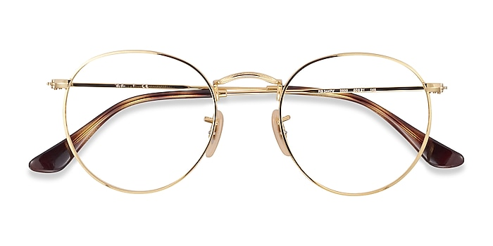 Gold Ray-Ban RB3447V -  Lightweight Metal Eyeglasses