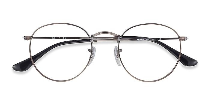 Gunmetal Ray-Ban RB3447V -  Lightweight Metal Eyeglasses