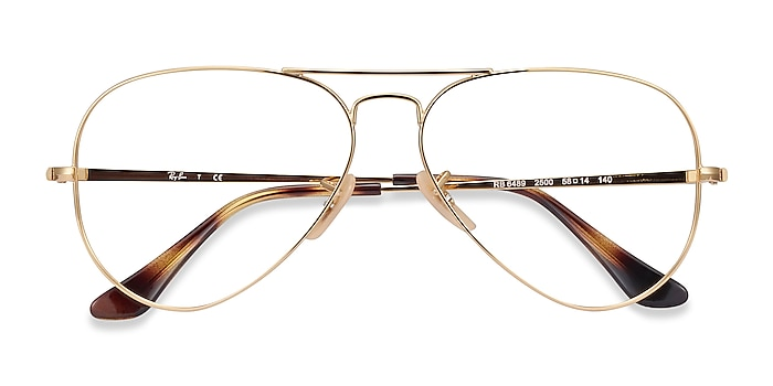 Gold Ray-Ban RB6489 -  Vintage Metal Eyeglasses
