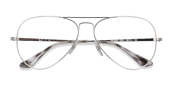 Silver Ray-Ban RB6489 -  Vintage Metal Eyeglasses