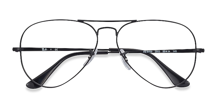 Black Ray-Ban RB6489 -  Vintage Metal Eyeglasses