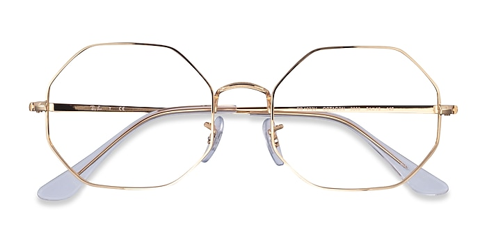 Gold Ray-Ban Octagon -  Vintage Metal Eyeglasses