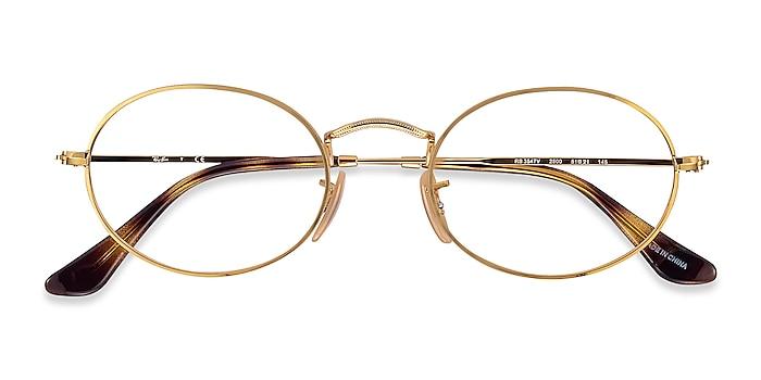 Gold Ray-Ban RB3547V -  Lightweight Metal Eyeglasses