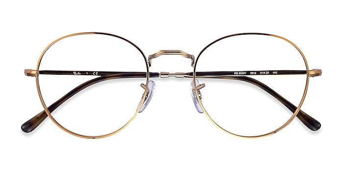 Bronze Copper Ray-Ban RB3582V -  Lightweight Metal Eyeglasses