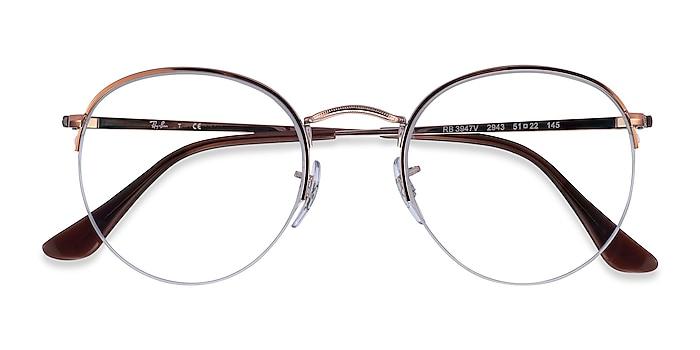 Bronze Copper Ray-Ban RB3947V -  Metal Eyeglasses