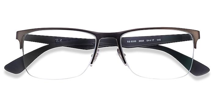 Gunmetal Ray-Ban RB6335 -  Geek Metal Eyeglasses