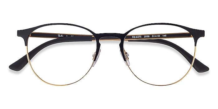 Black Gold Ray-Ban RB6375 -  Classic Metal Eyeglasses