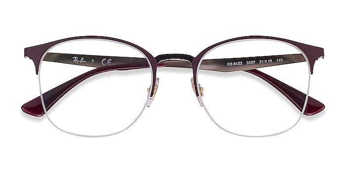 Bordeaux Gold Ray-Ban RB6422 -  Classic Metal Eyeglasses