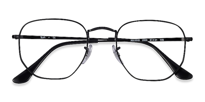 Black Ray-Ban RB6448 -  Lightweight Metal Eyeglasses