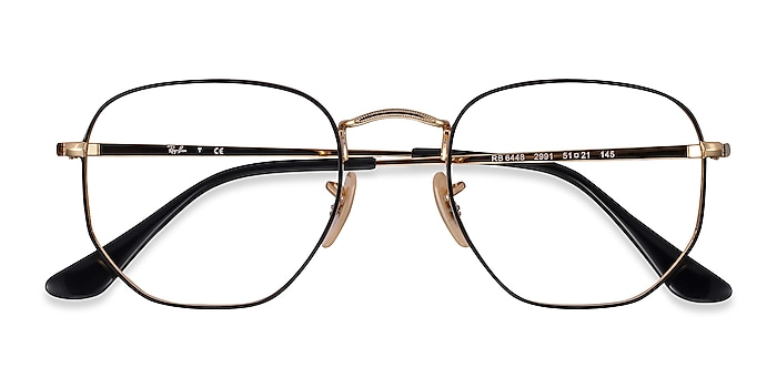 Black Gold Ray-Ban RB6448 -  Lightweight Metal Eyeglasses
