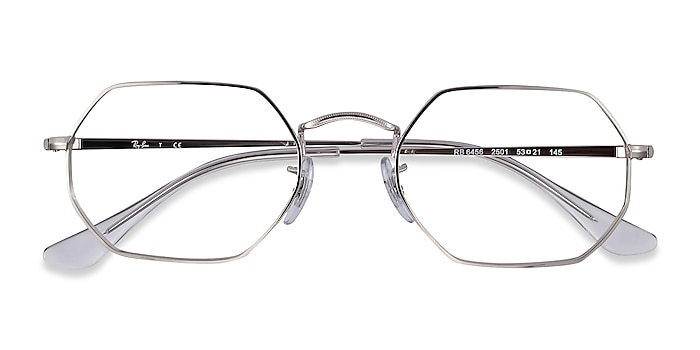 Silver Ray-Ban RB6456 -  Lightweight Metal Eyeglasses