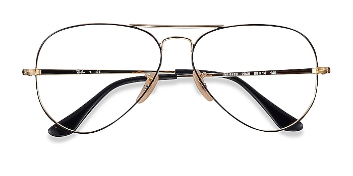 Black Gold Ray-Ban RB6489 -  Vintage Metal Eyeglasses