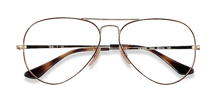 Tortoise Gold Ray-Ban RB6489 -  Vintage Metal Eyeglasses