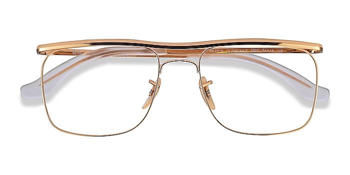 Gold Ray-Ban RB6519 -  Designer Metal Eyeglasses