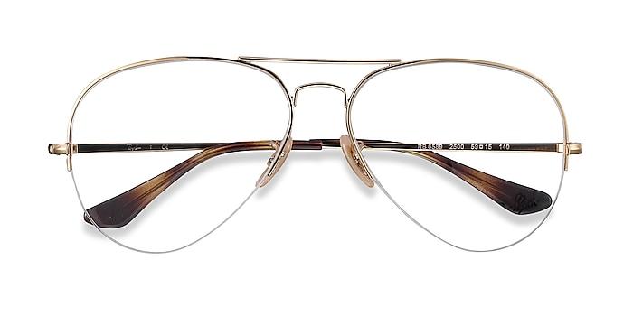 Gold Ray-Ban RB6589 -  Vintage Metal Eyeglasses