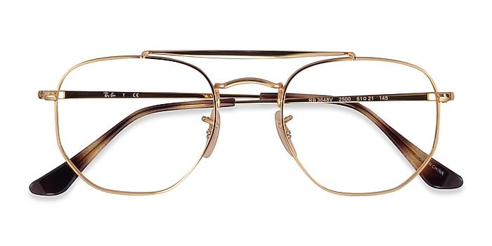 Gold Ray-Ban RB3648V -  Metal Eyeglasses