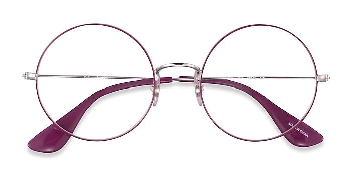Purple Silver Ray-Ban RB6392 -  Metal Eyeglasses