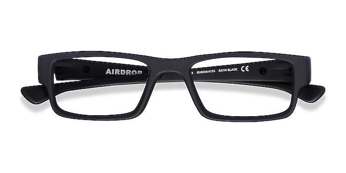 Satin Black Oakley Airdrop -  Plastic Eyeglasses