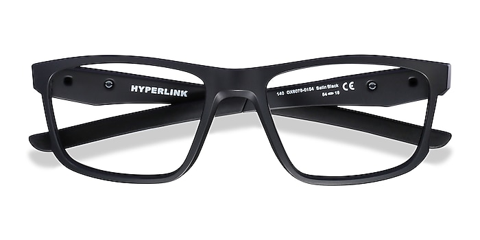 Satin Black Oakley Hyperlink -  Plastic Eyeglasses