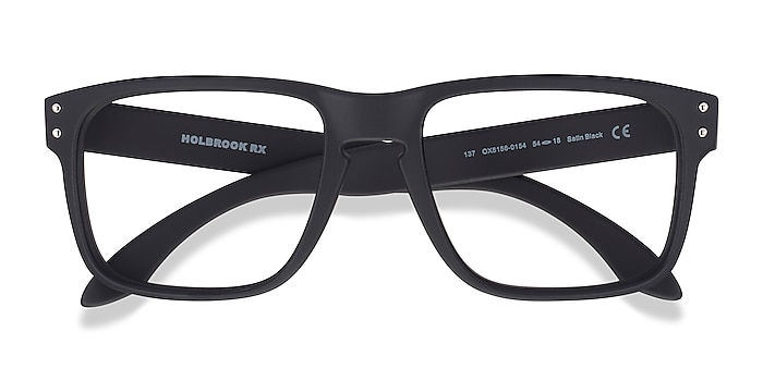 Satin Black Oakley Holbrook Rx -  Plastic Eyeglasses