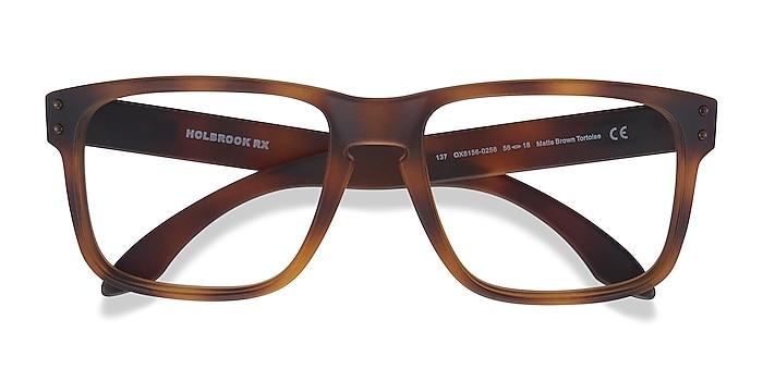 Matte Brown Tortoise Oakley Holbrook Rx -  Plastic Eyeglasses