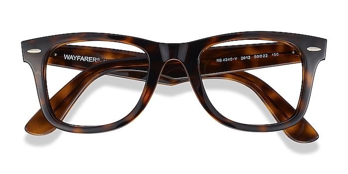 Tortoise Ray-Ban RB4340V -  Plastic Eyeglasses