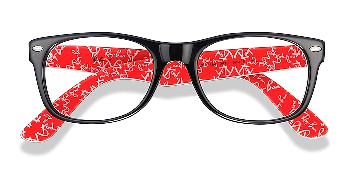 Black & Red Ray-Ban RB5184 -  Acetate Eyeglasses