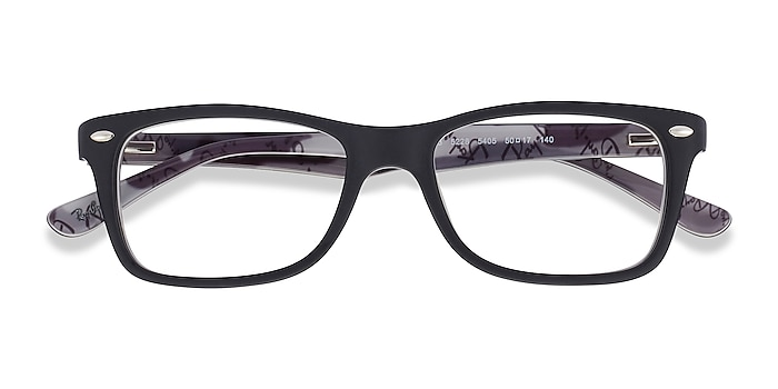 Black & Gray Ray-Ban RB5228 -  Acetate Eyeglasses