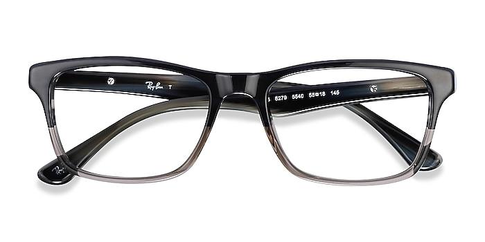 Black & Gray Ray-Ban RB5279 -  Acetate Eyeglasses