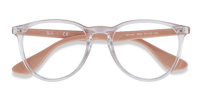 Clear & Pink Beige Ray-Ban RB7046 -  Fashion Plastic Eyeglasses