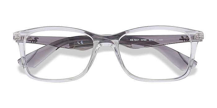 Clear & Gray Ray-Ban RB7047 -  Fashion Plastic Eyeglasses