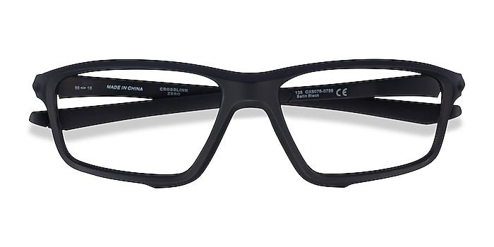 Satin Black Oakley Crosslink Zero -  Designer Plastic Eyeglasses