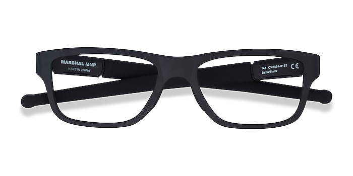 Satin Black Oakley Marshal Mnp -  Designer Plastic Eyeglasses