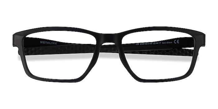 Satin Black Oakley Metalink -  Plastic Eyeglasses