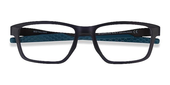 Satin Gray Smoke Oakley Metalink -  Geek Plastic Eyeglasses